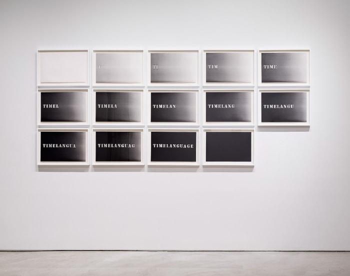Timelanguage by Luis Camnitzer