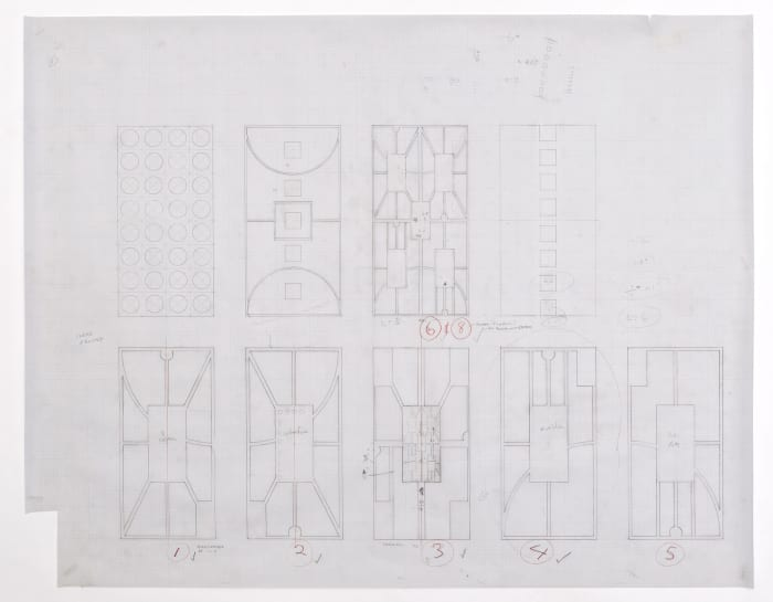 Untitled (City Charts, Sketches for Glass Pieces # 1) by Matt Mullican