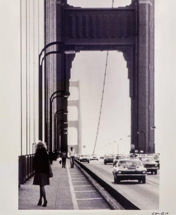 Roberta Contemplating Suicide on the Golden Gate Bridge by Lynn HERSHMAN