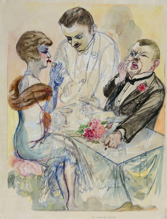 After the Theatre by George Grosz