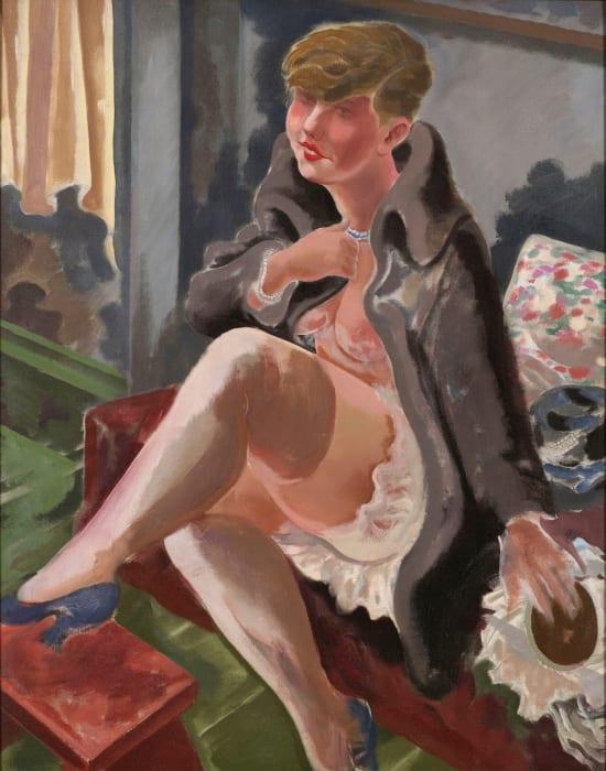 Seated Girl, Lotte Schmalhausen by George Grosz