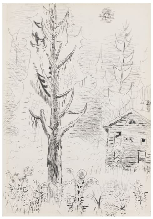 Pine Tree and Star by Charles Burchfield