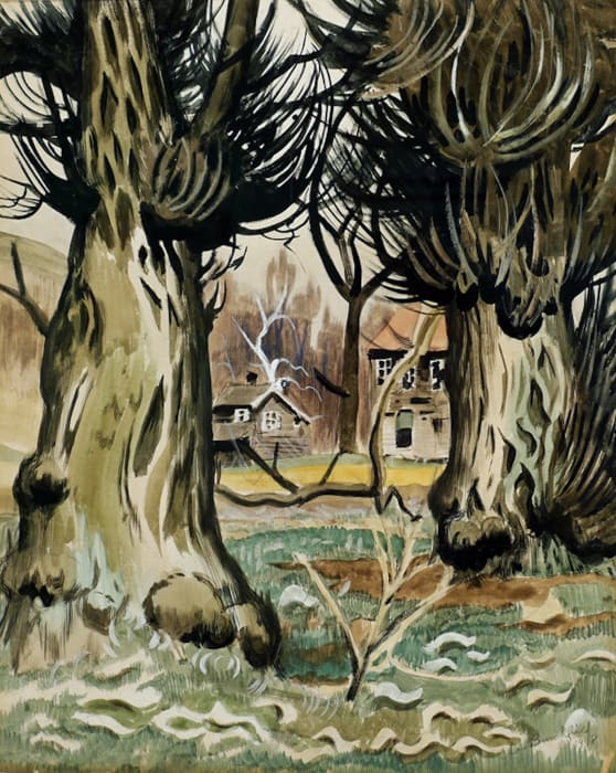 Two Houses by Charles Burchfield