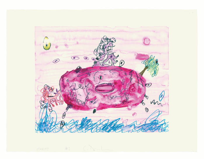 Floating Planet 1 by Carroll Dunham