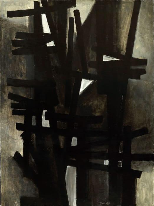 Peinture 130 x 97 cm, 1949 by Pierre Soulages