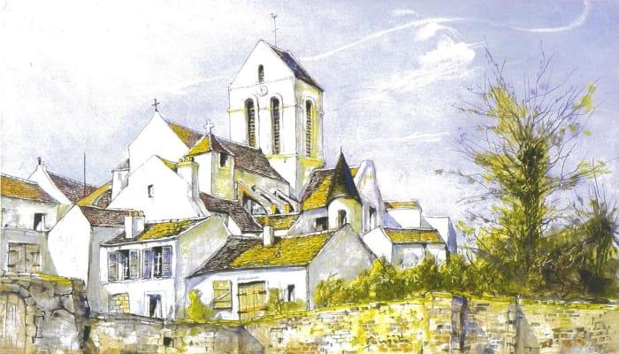 The Church in the village by Leonard Tsuguharu Foujita