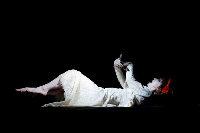 For Kazuo Ohno's Admiring La Argentina - lying down by Yasumasa Morimura