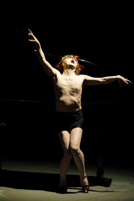 For Kazuo Ohno's Admiring La Argentina - aesthetic crucifixion by Yasumasa Morimura