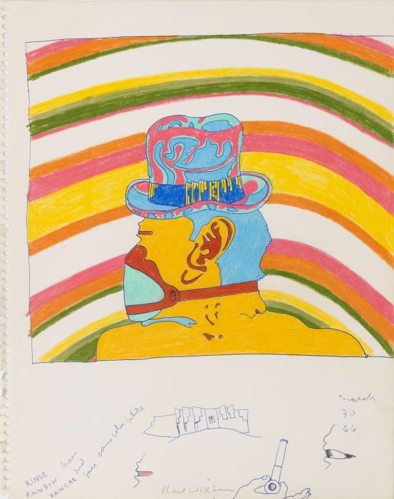 Rainbow Gila Teen (Study for Gila Teen) by Karl Wirsum