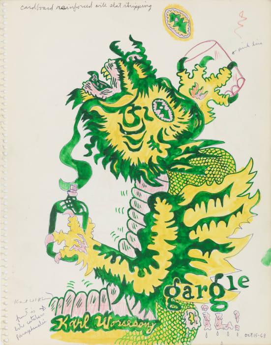 Untitled (Study for Gargoyle Gargle Oil) by Karl Wirsum