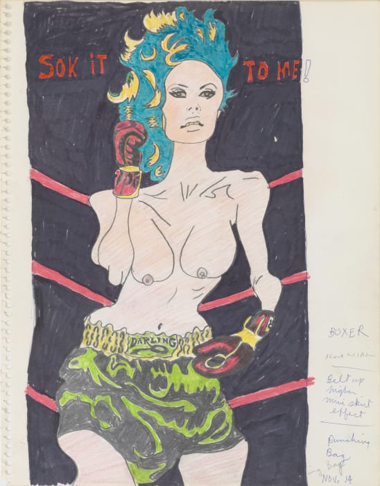 Sok it to Me! (Study for Hairy Who Sideshow Panel) by Karl Wirsum
