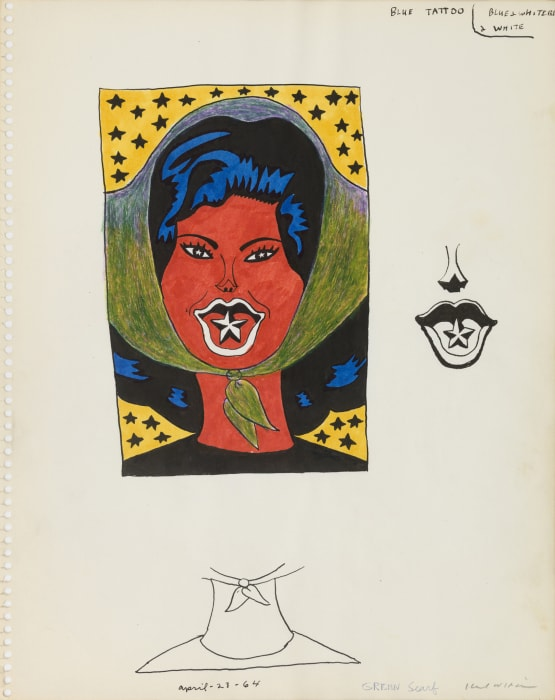 Untitled (Study for Blue Tattoo) by Karl Wirsum