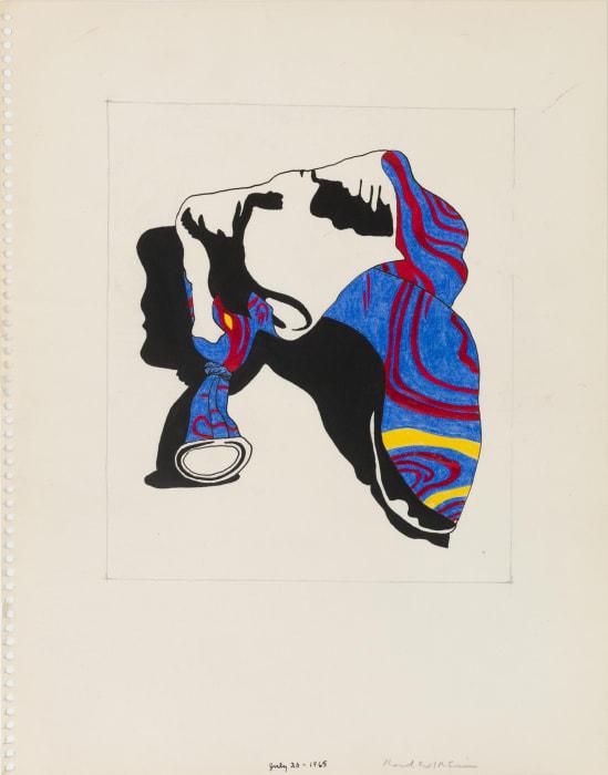 Untitled (Study for Broken Balloon Series) by Karl Wirsum