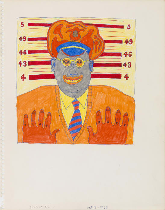 Untitled (Study for Flat Foot) by Karl Wirsum