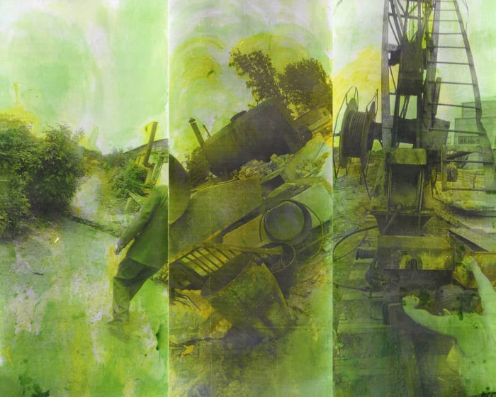"""Untitled from the series 'Green"""" by Boris Mikhailov"""