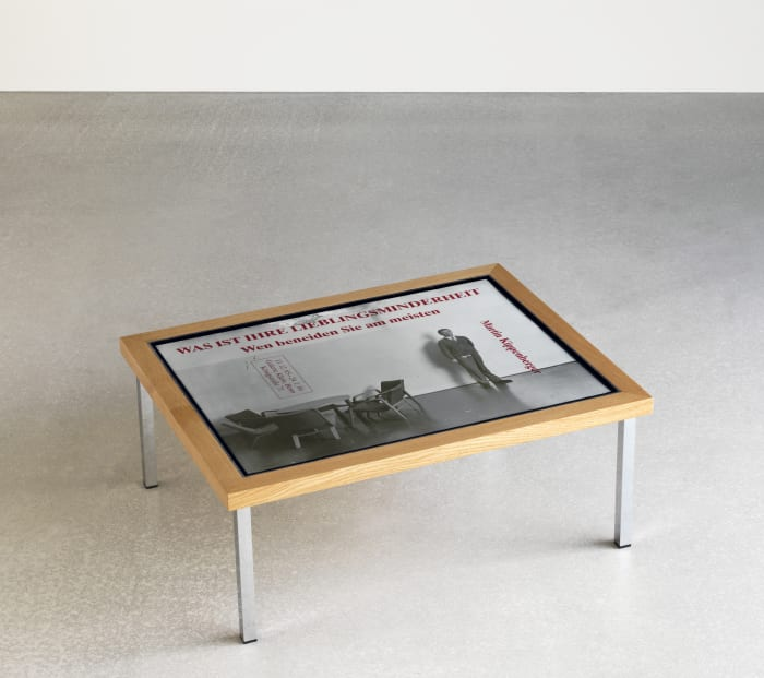Tisch Table Table by Jonathan Monk
