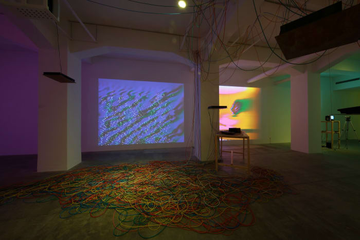 installation view of Video Feedback Configuration by Masayuki Kawai