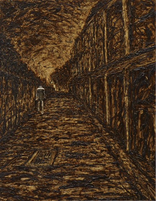 Walking in the Alley Alongside the Railway by Shi Jin-Hua