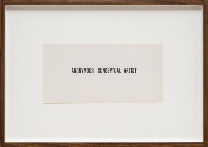 Anonymous Conceptual Artist by Goran Trbuljak