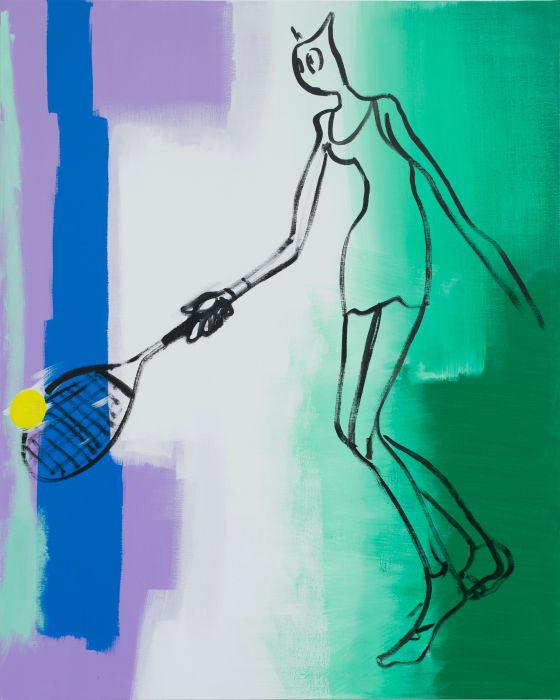Tenniswoman by Alain Séchas