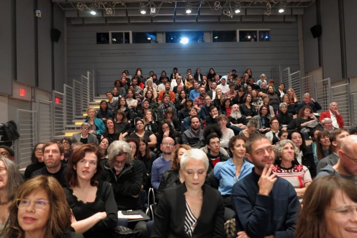 Seminar Lecture, David Harvey, Chantal Mouffe, Martha Rosler, Gayatri Spivak, Cassandra Guan, Activism  and Critique, Whitney Museum of American Art,  New York, 10/20/2018 (image 2/4) by Rainer Ganahl
