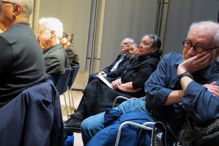 Seminar Lecture, David Harvey, Chantal Mouffe, Martha Rosler, Gayatri Spivak, Cassandra Guan, Activism  and Critique, Whitney Museum of American Art,  New York, 10/20/2018 (image 3/4) by Rainer Ganahl