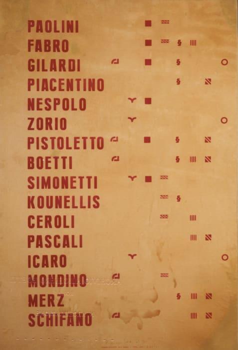 Manifesto by Alighiero Boetti