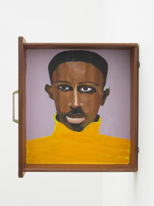Man in a Jumper Drawer by Lubaina Himid