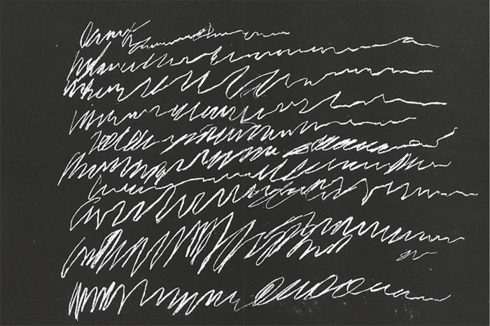 Untitled (from 8 Odi di Orazio) by Cy Twombly