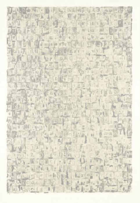 Gray Alphabets (ULAE 57) by Jasper Johns