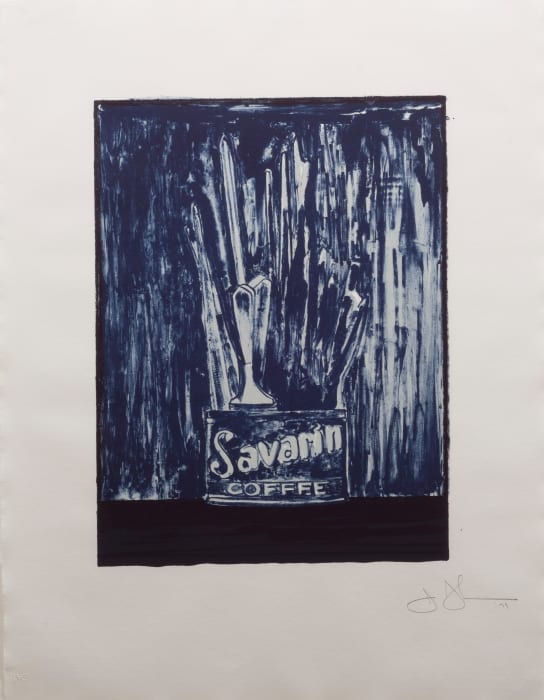 Blue Savarin by Jasper Johns