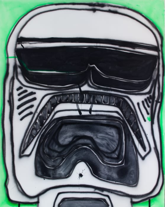 Face of a Stormtrooper by Katherine Bernhardt