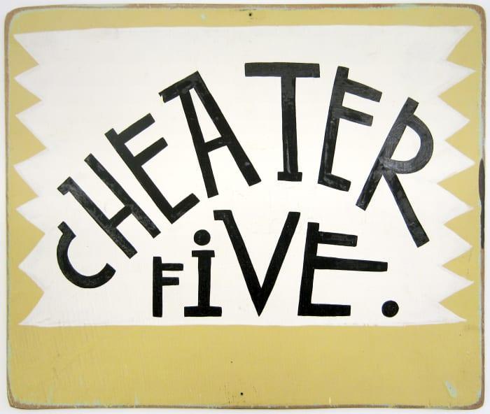 Untitled (Cheater Five) by Margaret Kilgallen