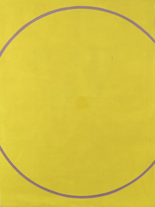 Untitled (Yellow Violet Arc) by William Turnbull
