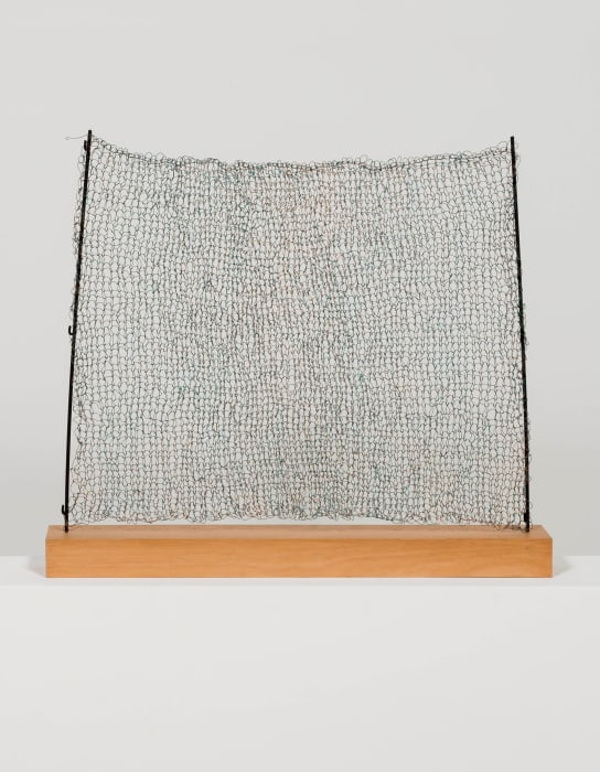 One bent metal tube, n.d. reconstruction by Gala Porras-Kim