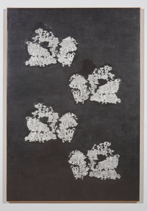 2 embroidered fragments from Kertch reconstruction by Gala Porras-Kim