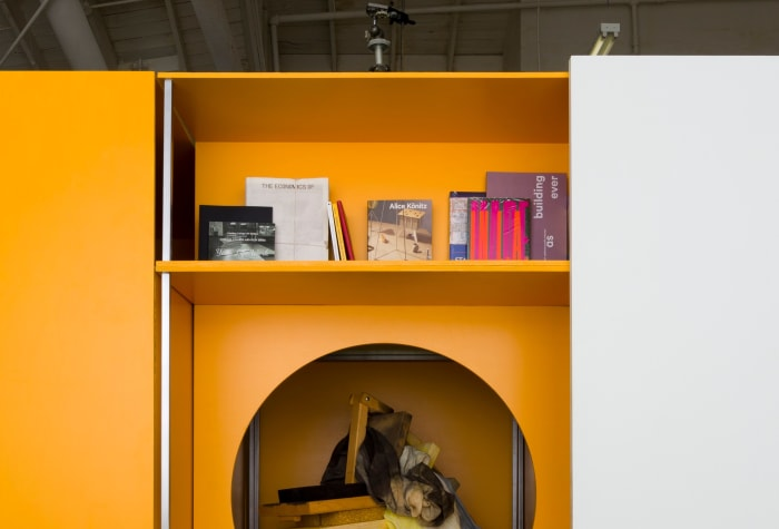 Los Angeles Museum of Art Display System #7, Unit 10: Library by Alice Könitz