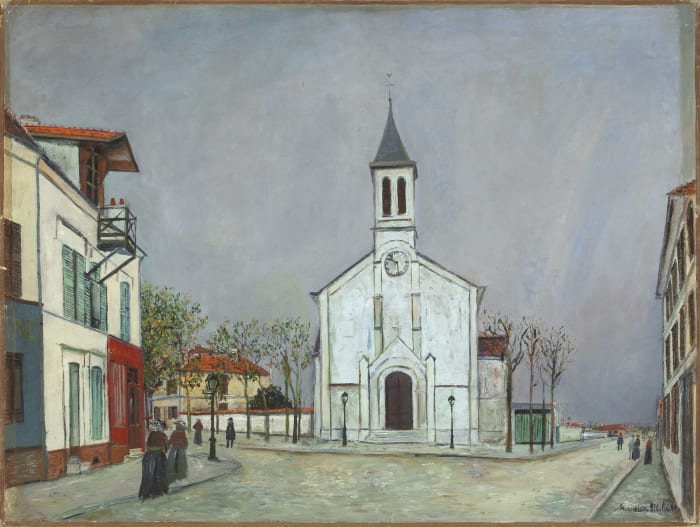 Eglise de Villetaneuse (Seine-Saint- Denis) by Maurice Utrillo