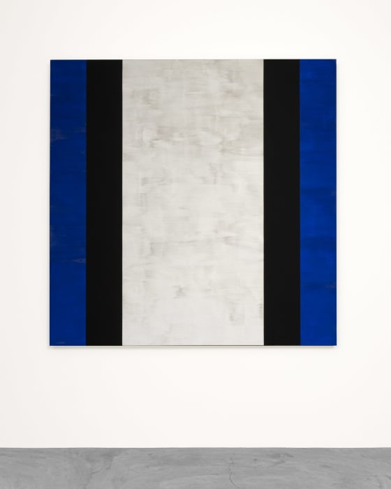 Untitled (Blue, Black, White) by Mary Corse