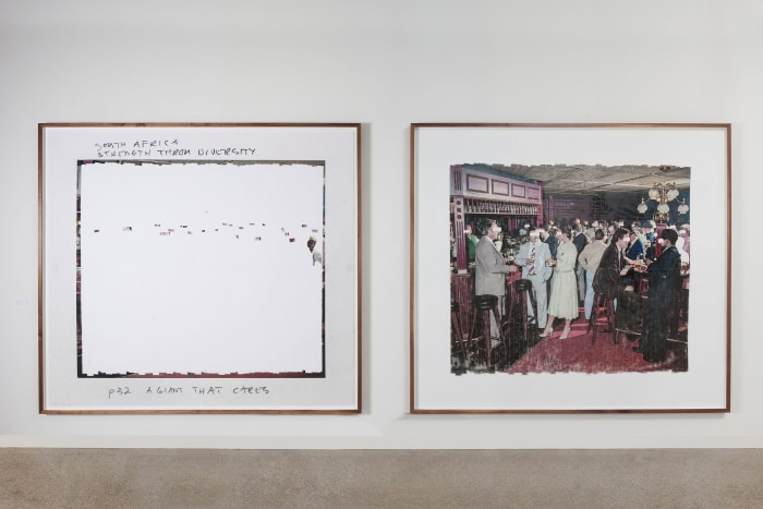 Sticky-tape Transfer 07, South Africa Strength Through Diversity, p32 A Giant that Cares (Diptych) by Mikhael Subotzky