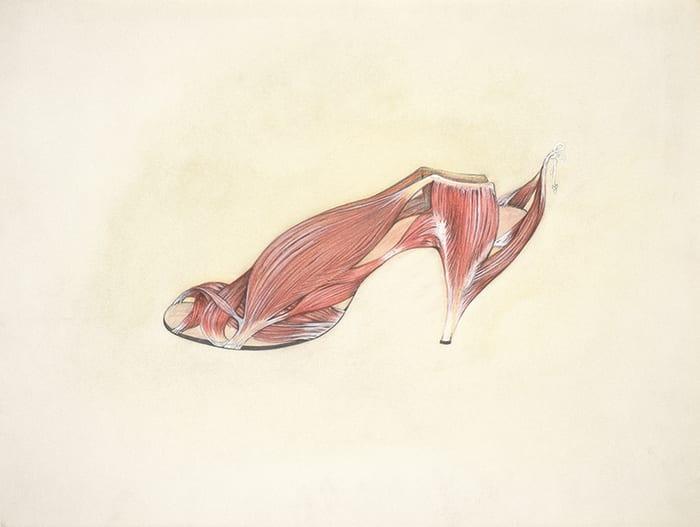Muscle Shoe by Birgit Jürgenssen