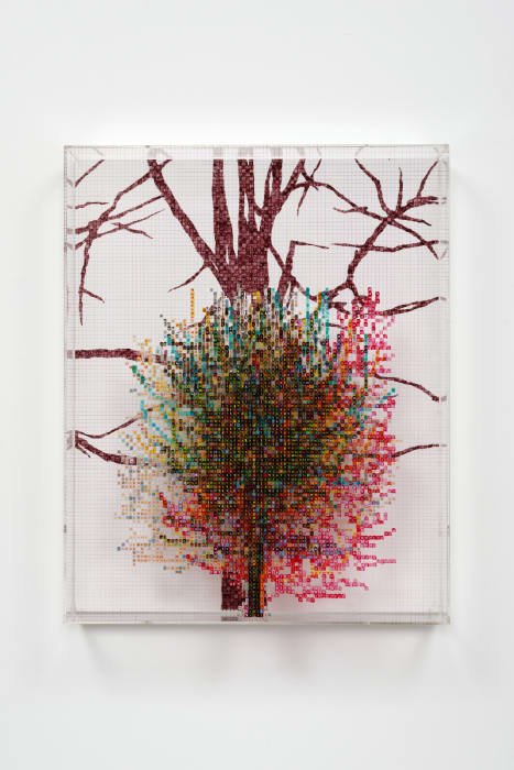 Numbers and Trees IV, #8 (Shucks) by Charles Gaines