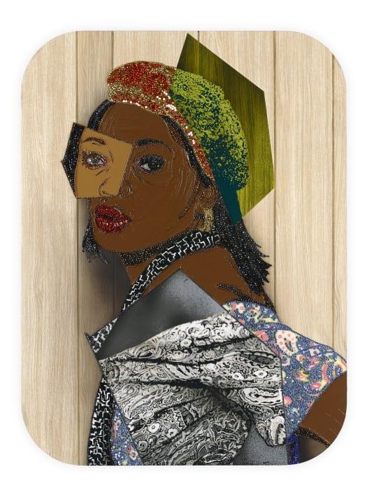 Portrait of Qusuquzah #6 by Mickalene Thomas