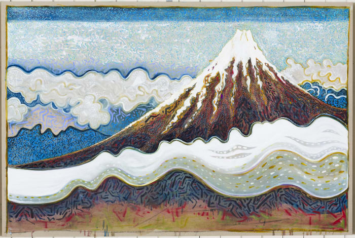 mount fuji with cloud(after Hiroshige) by Billy Childish