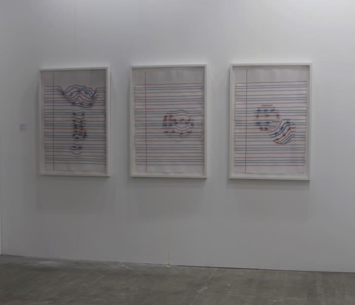Ruled paper (red, blue, white) by Reena Saini Kallat