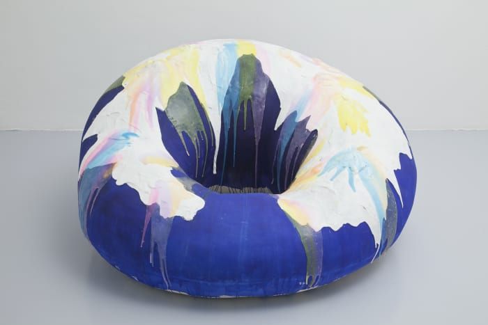 Blue Donut with Glaze by Nathalie Djurberg & Hans Berg