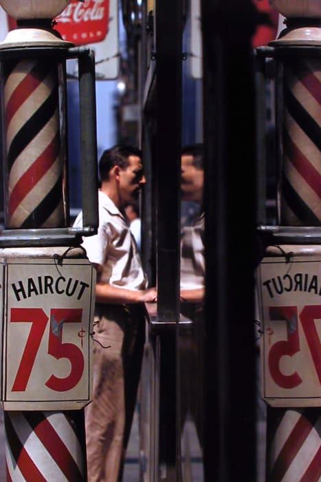 Haircut by Saul Leiter