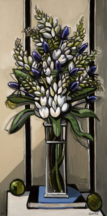 White Flowers and Thistles by David Bates