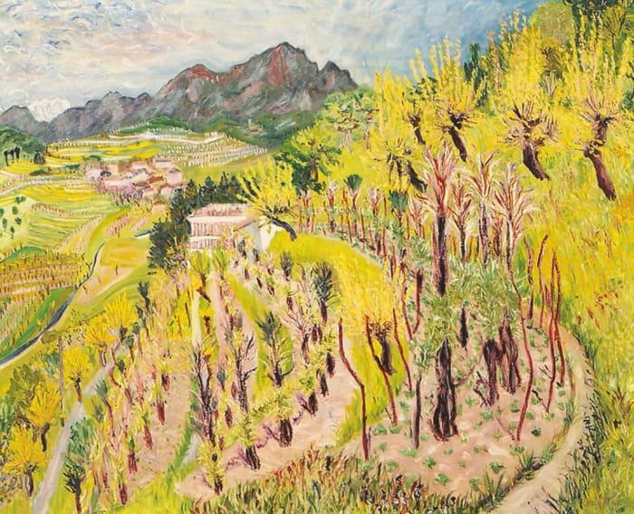 Tessiner Landschaft, Mendrisiotto by Paul Camenisch