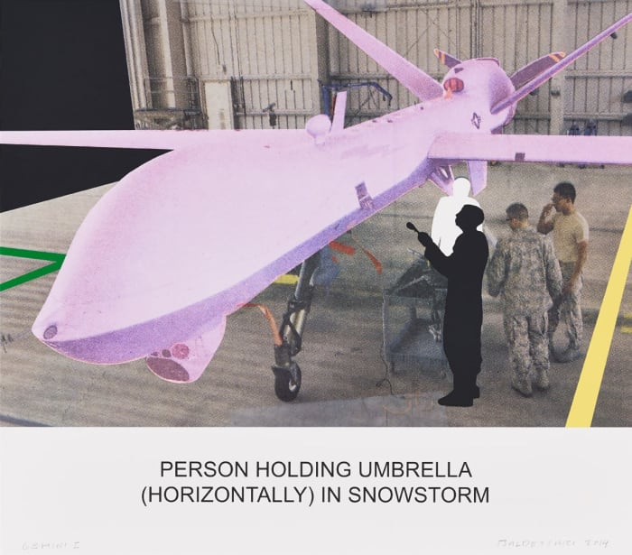 The News: Person Holding Umbrella… by John Baldessari